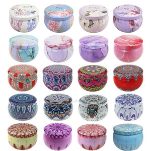Tinplate DIY Empty Handmade Scented Round Jar Can Candle Tea Food Candy Tablet Accessories Storage Box 7.7*5CM XHH9LV