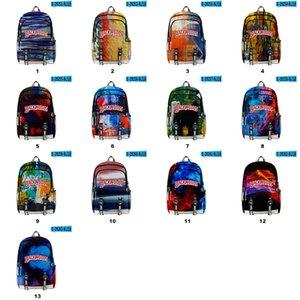 Backwoods Backpack 3D Ink Painting Shoulder Pack Pen Bag Traveling School Bags For Cigar Packs Laptop Outdoor Hiking E Cigs Case
