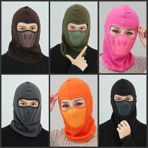 Winter masks Warm Hat Thicker Barakra Hat Cycling Caps motorcycle windproof dust CS Ski mask tactics section head sets Tactical mask 18 X2