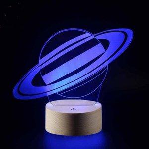 Galaxy Lâmpada Europeia e Americana Globe Série 3D Night Pequena Noite Colorido Touch Controle Remoto Desk Presion Vision Star Light Quarto