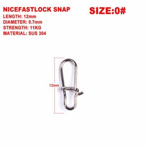 100pcs lot Hooked Snap Stainless Steel 0#-8# Fishing Barrel Swivel Safety Snap Hook Lure Accessories Connector Sn jllcMI