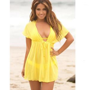 Sexy Ladies Beach Dress Chiffon Bikini Cover Up Kaftan Sarong Summer Beachwear Swimwear Bathing Suit1