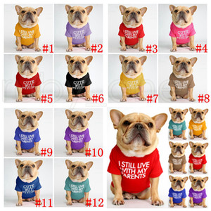 Pet Dog Clothes Puppy Cotton Turtleneck T-shirt Cat Dog Clothes T Shirt Dogs Shirt Fashion Designs Alphabet Pet Dog Clothing 12Color RRC6049