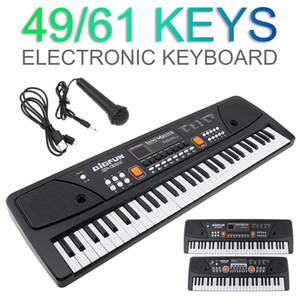 37   49   54   61 Keys Electronic Keyboard Piano Digital Music Key Board with Microphone Children Gift Musical Enlightenment