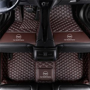 Custom Fit Car Floor Mat Carpet Specific Waterproof Leather ECO Friendly Material For Vast of Car Model and Make Single Layers Full Coffee
