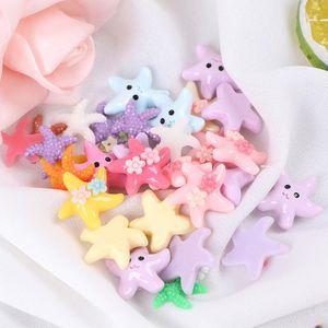 10cs Resina Linda Miniatura Estrella de Estrella de Estrella Pesca Adornos de Acuario Nuevo