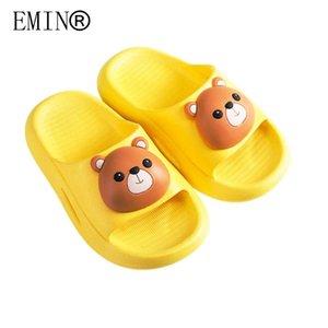 Slipper 2021 Summer Children's Sandals And Slippers Cartoon Non-slip Soft Bottom Comfortable Girls Home Bathroom Shoes
