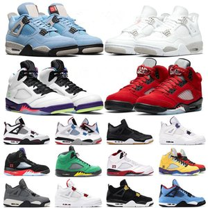Mens basketball shoes 4s 5s University Blue Raging Bull Black Cat Court Purple Fired Red Jumpman fashion shoe trainers sports sneakers with box tag