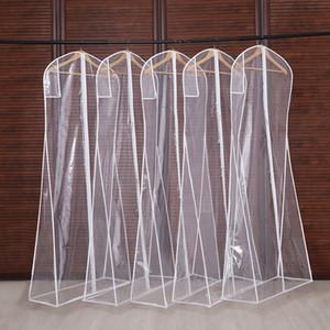 3 사이즈 의류 커버 클리어 정장 가방 가정용 교수형 - 타입 코트 슈트 나방 방지 의류 가방 통기성 지퍼 먼지 커버 CPA2940