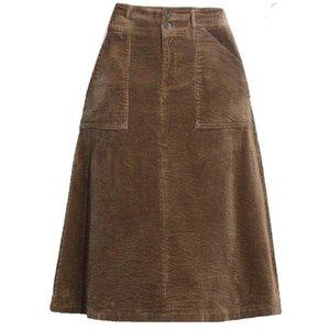 Corduroy Falda Mujeres Otoño Winte Cintura Alta Vintage Flojo Tamaño Big Knee Longitud Una línea Faldas Femenino Negro Caqui