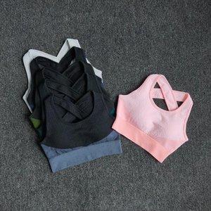 Wareball 6 Farben Yoga Sport BH Sexy Back Gepolsterte Kreuzgurte Top Stoßdicht Atmungsaktive Fitness Laufgarn Weste Sport Top