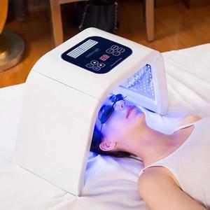 PDT LED 7 اللون ضوء العلاج آلة الأزرق الأخضر الأصفر الفوتون أدى قناع الوجه لتجديد شباب حب الشباب إزالة العلاج بالضوء المصباح استخدام سبا