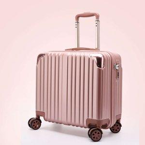 18 carretilla femenina pequeña maleta de 16 pulgadas Viajes de 16 pulgadas Viaje Universal Rueda Estudiante Tardeling Box