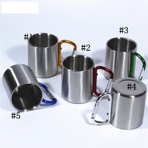 Double Wall Stainless Steel Mountaineering Buckle Mug Beer Drinking Coffee Cups Camping Travel Outdoor Backpacking Hiking SEA WAY WLL1045