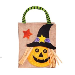 4Styles Halloween Non-woven Bag For Pumpkin Ghost Cat Wrap Gift Candy Bag Props For Children Adult Decorations DWE8767