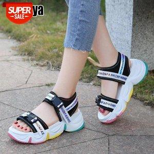 Sandales Femmes Sandales Chaussures Casual Bas Épais Respirant Dames 2021 Fashion Platform Chaussures Sandales d'été Femme O052 # NY21