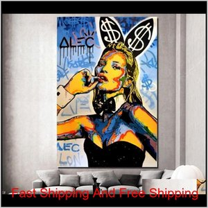 Art Decoration Alec Painting Pictures Home Prints Room Wall Canvas Monopoly Catwoman Living Artwork Graffiti Modern For Home Posters C 5Zjk6