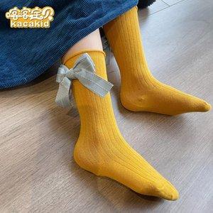 Kacakid Official Spring Girl Calcetines Lindos Bow Knot Socks Cotton Fashion Bow Knot Encantador Comfort Niña Niña