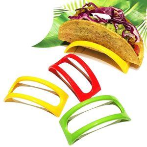 12pcs colorato plastica Taco Shell Holder Taco Stand Plate Protector Holder Prodotti da cucina Pancake Rack Stand Holds # 42