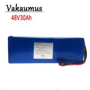 2021 Vakaumus 48V Batterie 13S4P 30Ah Battery Pack 750W Batterie haute puissance Bicycle électrique Bicyclette électrique 25A BMS avec T Plug + 54.6V2A Chargeur