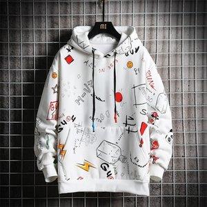Anime Men Hoodie Print с длинными рукавами толстовки Brand Pullovers повседневные трексуиты 201127