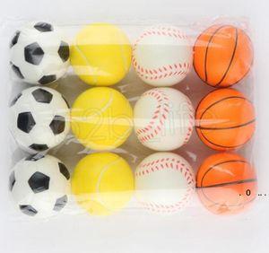Baseball Soccer Basketball Toy Sponge Balls 6.3cm Soft PU Foam Ball Fidget Relief Toys Novelty Sport Toys For Children EWC6294