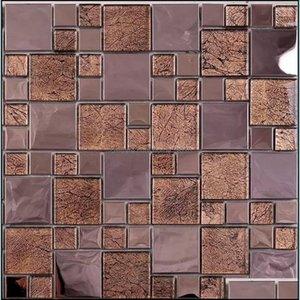 Tiles Flooring Building Supplies Home & Gardenrose Gold Metal Glass Backsplash Ssmt405 Stainless Steel Mosaic Tile For Kitchen Bathroom Drop