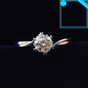925 Sterling Silver Moissanite 1ct Ij Color Lab Diamond Jewelry Snowflake Style Anniversary Ring