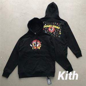 2021 جديد FW Kith هوديي الرجال النساء أرنب هوديس جودة عالية لوني أنيمي سلسلة البلوفرات بلوزات 4GSP