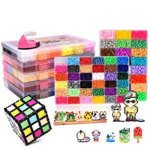 24 72 colors box set hama beads toy 2.6 5mm perler educational Kids 3D puzzl diy toys fuse pegboard sheets ironing paperXGLX