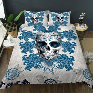 3D Black Skull high definition printing design decorative bedding super soft encryption boys' single double bed large size suit with quilt cover and pillow case