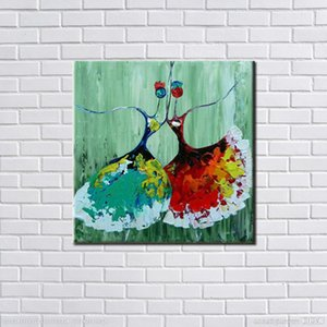 Hand painted oil paintings, abstract art paintings, ballet stickers, children's room wall decoration, artistic image.