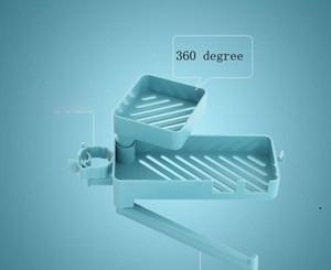 New Banheiro Organizador Prateleiras Banho Duche Sabonete Plástico Azul Banheiro Torneira Acessórios Cozinha Titular Dha3698