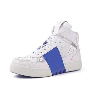2021 디자이너 신발 남성을위한 송아지 가죽 스니커즈 하이 탑 플랫폼 트레이너 낮은 최고의 캐주얼 고무 컵솔 상자 265와 좋은 품질