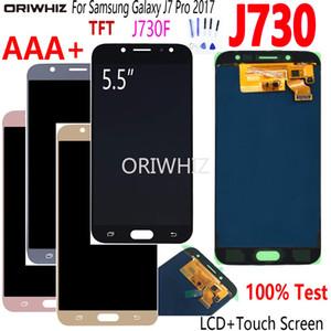 LCD para Samsung Galaxy J7 Pro 2017 J730 Display Montagem Digitador de Tela de Toque para SM-J730F J730FM / DS J730F / DS J730GM / DS TFT AMOLED