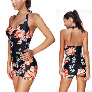 Shorts Blume One Flat Piece Womens Badeanzug Badebekleidung Baden Backless Swim Wear 2021 Neue Push Up Schwimmanzug für Frauen C19030201