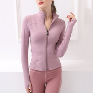 Lulu Autumn and Winter New Stand Collar Zipper Tight Thin Fast Dry Top Fitness Women's Long Sleeve Sports Coat Yoga Suit