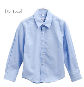 Boy's white shirt long sleeve cotton school uniform for middle and primary school students children's white shirt clothing