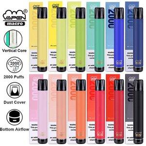 100% Original Vapen Macro Disposable Pod Device Bottom Airflow 2000 Puffs 6ml Vape Pen Device Vapor Bar Stick System Flex Max XXL