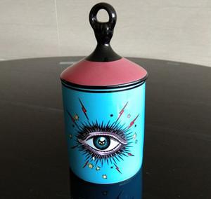 Lindo design Grandes olhos frascos mãos com tampas cerâmicas latas decorativas castiçal titular latas de armazenamento casa caixa decorativa para maquiagem
