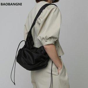 الصلبة اللون النايلون حقائب الكتف حقائب الكتف للنساء شخصية مطوي الرباط سيدة حقيبة بسيط أنثى ركاب حقيبة