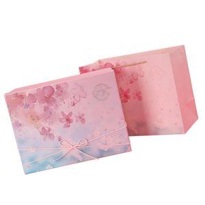 Caso di carta da regalo di compleanno di 1set di compleanno Caso di imballaggio di Natale Sakura Design Case)