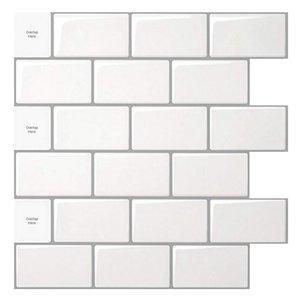 Art3D -HOME Decoration 3D наклейки на стены плитка кожуры и палочка задняя панель обои для кухни ванная комната душевая комната камин (10 листов 30x30см)