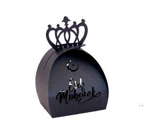 Musulmano Ramadan Festival Box di carta islamica Eid Mubarak Carta da sposa Candy Regalo Case Case Hollow Laser Candy Box AHA3667