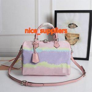 2021 새로운 장사 가방 여성 복고풍 큰 꽃 패션 야생 미니 베개 가방 어깨 메신저 가죽 가방