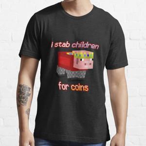 Technoblade أنا طعنة الأطفال للعملات الصيف مضحك تي شيرت الرجال طباعة الانتخابات تي شيرت عارضة تيز الأزياء الشارع الشهير شيرت L0223
