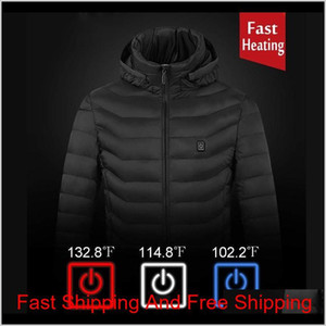 2021 Upgrade 8 Heating Zones Mens Women Heated Outdoor Vest Usb Electric Heated Hooded Long Sleeves Jacket The qylNVL home2006