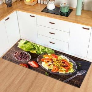Ковры кухонный коврик домой вход в прихожей прихожей спальня гостиная декор пола ковер 3D овощной ванна противоскользящая ковер балкон