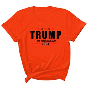 15 styles Trump 2024 T-Shirt Letter Printing Round Neck T-Shirt Casual USA Presidential Election Trump Short-sleeved Sweater by sea LLA432
