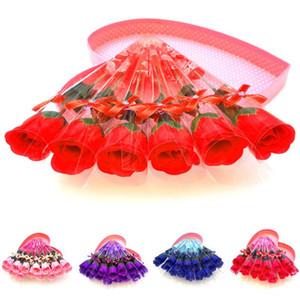 5pcs Día de las madres Día de las Madres Regalos Jabón Rose Flores Flower Bath Flower Petal con caja de regalo para Valentines de la boda